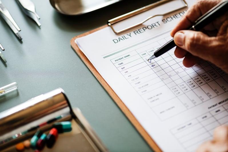 Daily schedule doctors