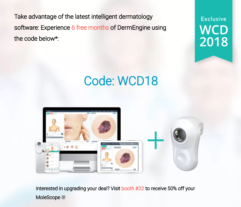 DermEngine MoleScope WCD 2018 Promotion