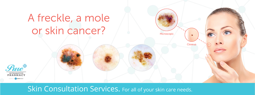 Pure Pharmacy Skin Cancer Screeniong Banner Dermoscopic Image