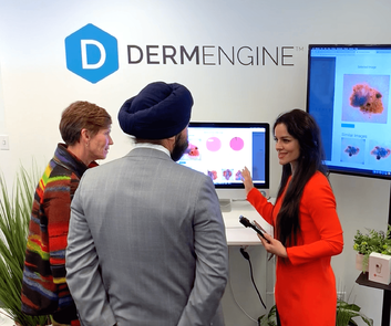 DermEngine demo with Minister Bains and Supercluster CEO, Sue Paish
