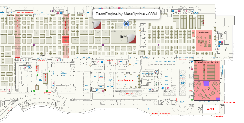 HIMSS 2019 Map DermEngine By MetaOptima