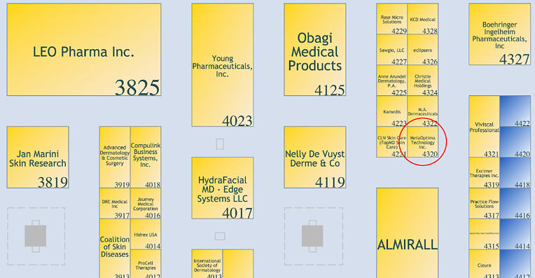 MetaOptima Booth 4320 at American Academy of Dermatology 2019