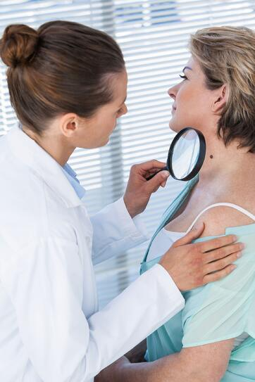 Patient Skin Check Dermatologist Dermoscopy