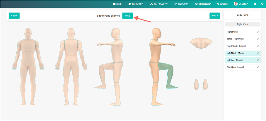 Group Body Parts DermEngine Total Body Photography