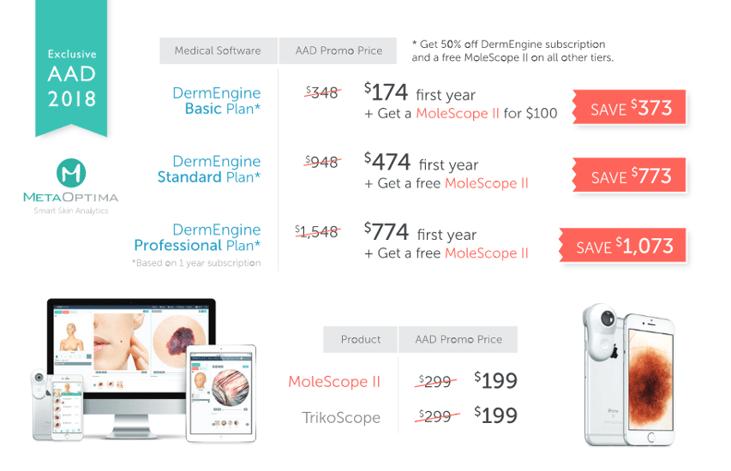 AAD 2018 DermEngine MoleScope Discount